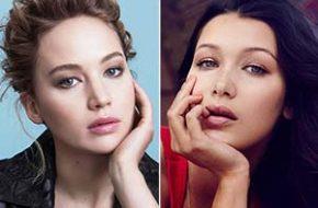Parece mas não é: Jennifer Lawrence e Bella Hadid