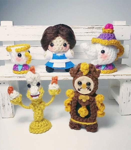 Bonequinhos de croch? da Disney - Just Lia Por Lia Camargo