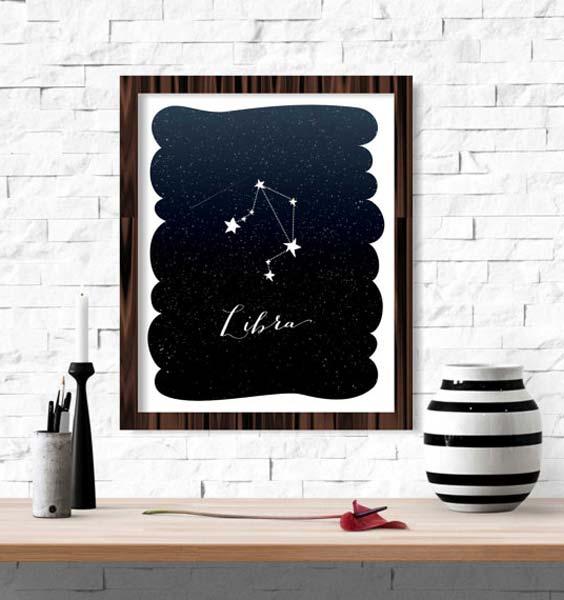 etsy.com/listing/260343479/libra-zodiac-constellation-wall-art