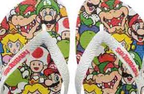 As Havaianas de Mario Bros