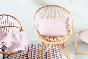 Decoração: Cadeira de vime