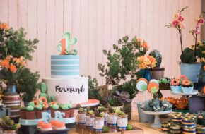 Festa de cactos – Aniversário de 1 ano do Fefê