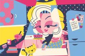 Os desenhos retrô e vibrantes de Clau Souza