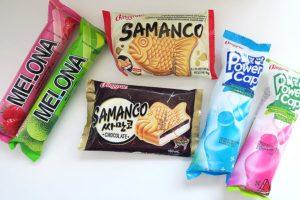 Provando sorvetes coreanos