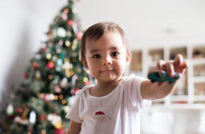 Ensaio de Natal com bebê