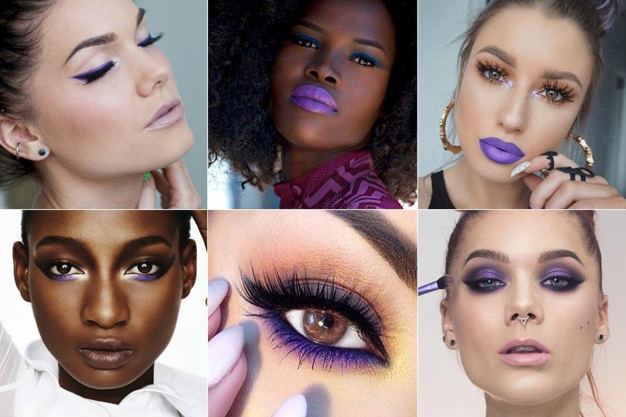 Resultado de imagem para maquiagem na cor ultravioleta