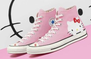 Os tênis Hello Kitty x Converse